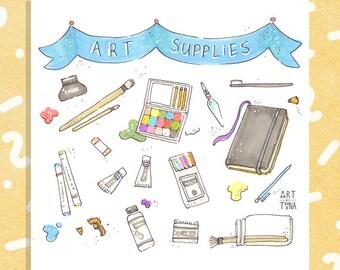 "Art Supplies (Little Things) 5x5"" Print"