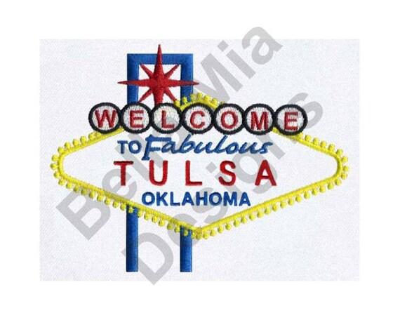 Tulsa Oklahoma Machine Embroidery Design Tulsa Oklahoma