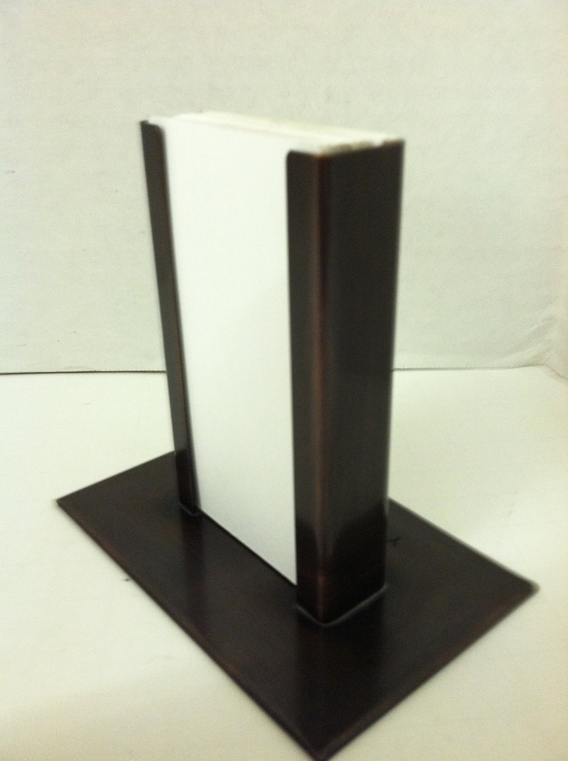 Copper Vertical Modern Business Card Holder Bronze Patina