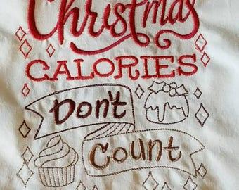 Kitchen Flour Sack Towel, Farmhouse Christmas Kitchen Towel, Christmas  Embroidered Cotton Dish Towel, Christmas Flour Sack Towel