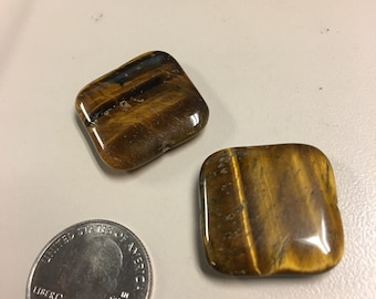 Tiger wood square beads