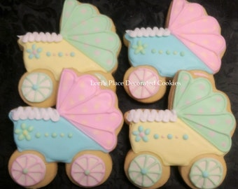 Baby Carriage Cookies - 12 - Cookies