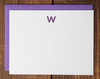 Instock Monogram Letterpress Notecards - Set of 10