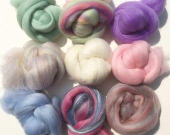 Felting Wools - Merino Wool Tops - Candy pack of 9