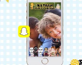 Snapchat GeoFilter, Birthday Snapchat Filters, Snapchat Filter, New Star Wars Snapchat GeoFilter, Star Wars Birthday Party, Star Wars Filter