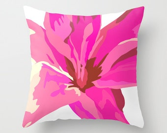 Pink Pillow Cover 16x16 inch,18x18 inch, 20x20 inch - Decorative Flower Pillow Cover, Throw Pillow Covers. Dorm Room Decor