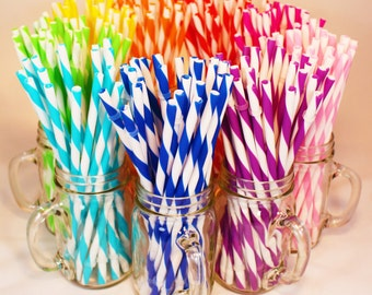 Reusable Straws BPA Free Eco Friendly Striped Blue Green Purple 30 For DIY  Making Your Own Mason Jar Cup Tumblers, Christmas