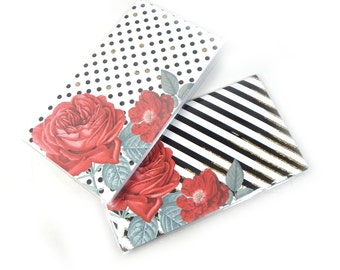 2018 2019 mini planner floral geometric coral and navy