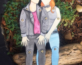 Customized Paper Doll Couple