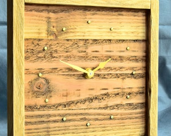 CL192 recycled wood clock