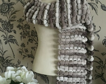 SALE PRICE  Handmade fancy yarn scarf