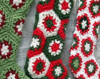 Bas de Noël sur-mesure crocheté dans votre choix de couleurs