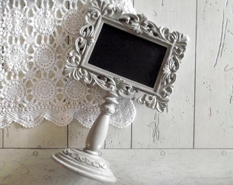 Gray Chalkboard Frame, Wedding Table Number Frame, Chalkboard Pedestal Frame, Wedding Chalkboard