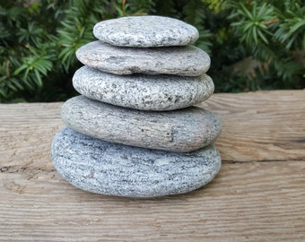 Natural Beach Stone Stack -Beautiful Sea Stones -Zen Stones -Beach Stone -Stack Large Stones -Zen Decor