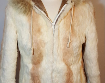 FREE  SHIPPING   Fur Hooded Jacket