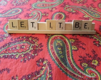 Let It Be Scrabble Tiles