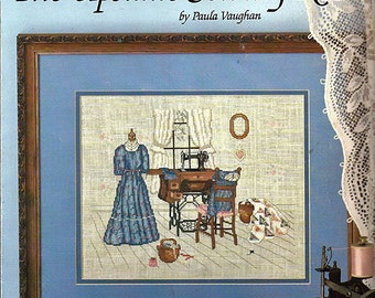 The Upstairs Sewing Room by Paula Vaughan Counted Cross Stitch Pattern Leisure Arts Leaflet 474