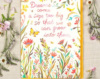 Dreams Come a Size Too Big - Greeting Card
