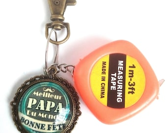 Key ring with measuring tape father's day