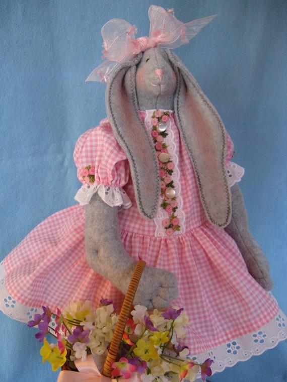 April - Mailed Cloth Doll Pattern 19inch Springtime Girl Bunny Rabbit