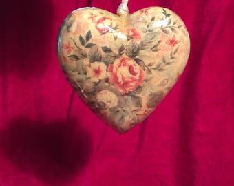 Napco Papier-Mache Heart Ornament