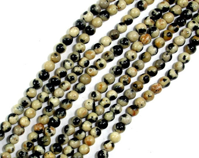 Dalmation Jasper Beads, Round, 2mm (2.3 mm), 15.5 Inch, Full strand, Approx 190 beads, Hole 0.4 mm, A quality (204054001)