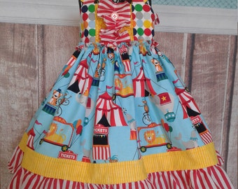 Circus Circus! Ready to Ship Party, fancy  Dress sizes 12 mos.  to 8 years