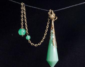 AAAAA Green Aventurine Crystal Pendulum/Dowsing Tool for Chakra/Reiki/Meditation/Special Gift/Gift for Mom/Gift for Her/Gift for Women/Wife