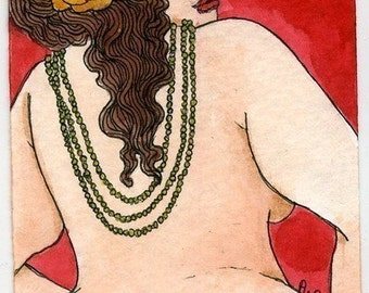 Sylvia nude fat lady (5x7 or 8x10 print)