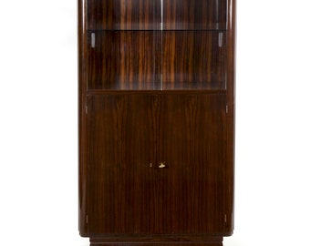 Art Deco Brass and Glass Vitrine Cabinet