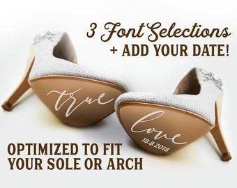 Personalised Wedding Shoe Decals