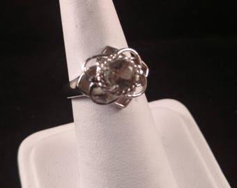 Light Peridot Sterling Silver Ring
