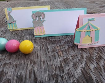 Circus Food Tent Cards, Circus Food Labels, Carnival Party, Girl's Carnival Theme, Carnival Decoration, Pastel Carnival Decor, Pastel Circus