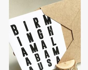 Birmingham Alabama USA Everyday Card Set - Alabama Card Set