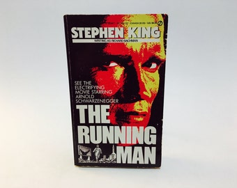 Vintage Sci Fi Book Running Man by Stephen King as Richard Bachman 1982 Movie Tie-In Edition Paperback