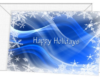 Personalized Frozen In Time Holiday Cards - Season's Greetings/Christmas