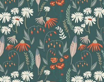 Floral Art Gallery Quilting Fabric, Wild Gatherings, Woodland Fabric By the Yard, Art Gallery, Campsite, Baby Quilt Material