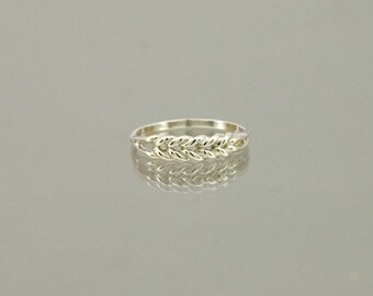 Weave ring in 925 sterling silver