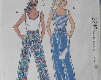 Kwik Sew Misses Tops Pants Pattern 2242