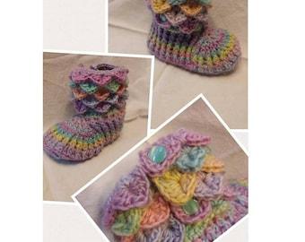 Pastel Rainbow slippers