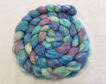 Hand Dyed Baby Camel and Silk 50/50 Combed Top - 4 Ounces - Roving - Spinning Fiber