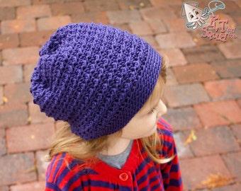 Crochet pattern, Girls slouchy hat pattern, permission to sell, crochet pattern, easy crochet pattern, crochet hat pattern, slouchy pattern
