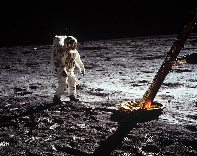 Apollo 11 Astronaut Buzz Aldrin Walks on the Moon - 5X7, 8X10 or 11X14 NASA Photo (AA-679)