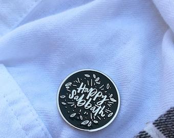 Happy Sabbath Lapel Pin