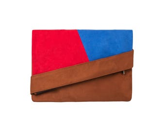 Envelope double face rust/blue/Red