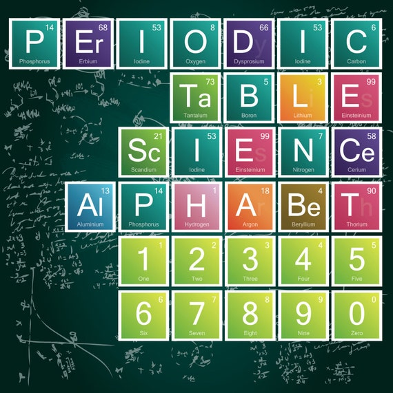 Science alphabet periodic table letters 90 letters urtaz Image collections