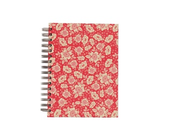 A5 Sketch Book red Flowers
