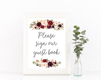 Printable Guest book sign, guestbook sign, wedding guestbook, wedding guest book, please sign the guest book, sign the guestbook,