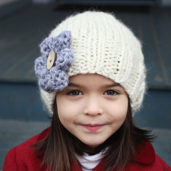 Slouchy Hat Knitting Pattern, PDF Knitting Pattern, Easy Knit Hat ...