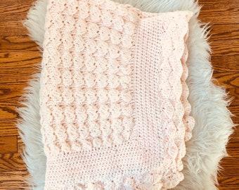 Handmade crochet baby or lap blanket